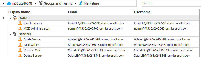 Office 365 Groups reports - check members and owners per each Group.