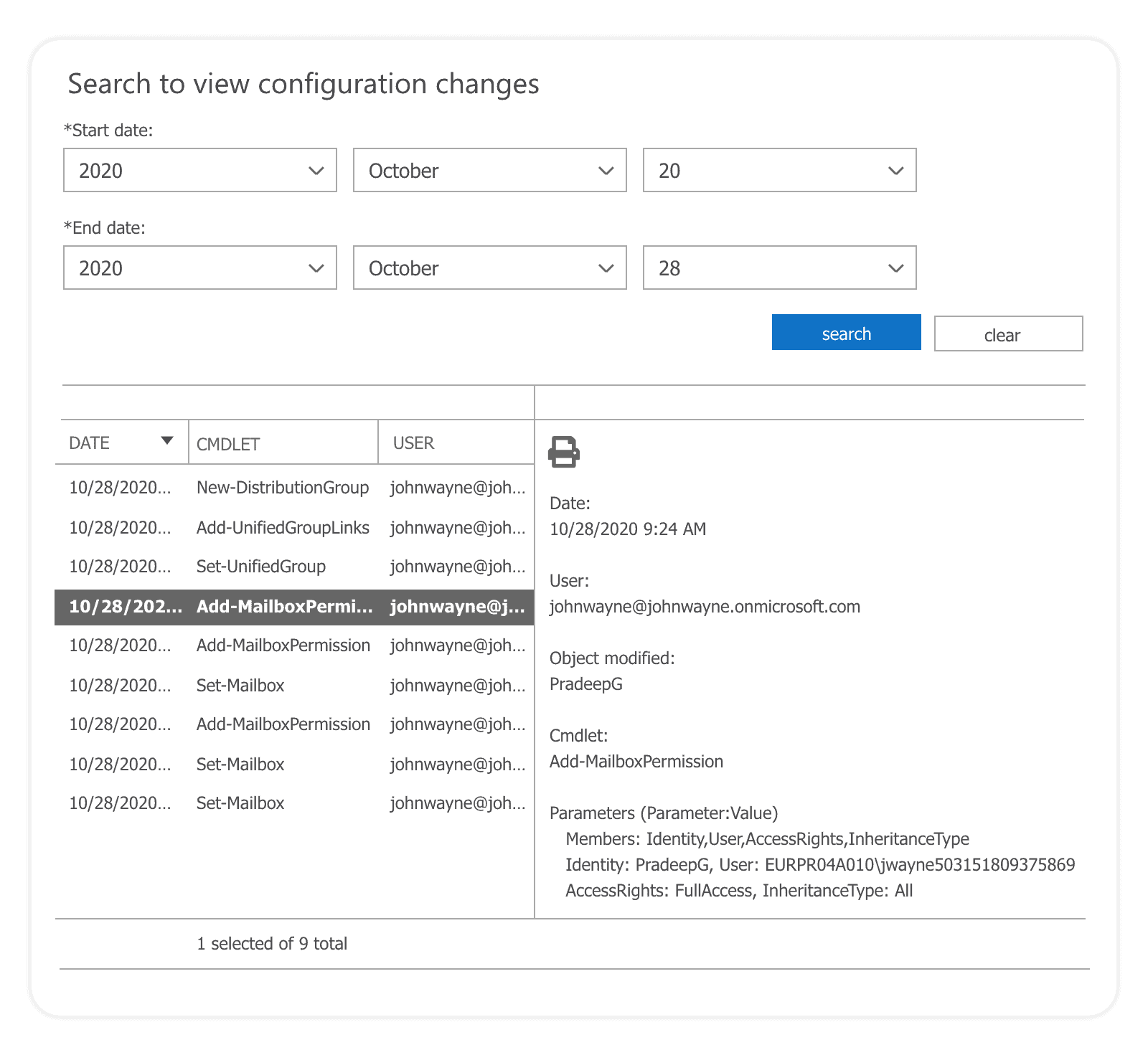 track configuration changes with Exchange audit logs