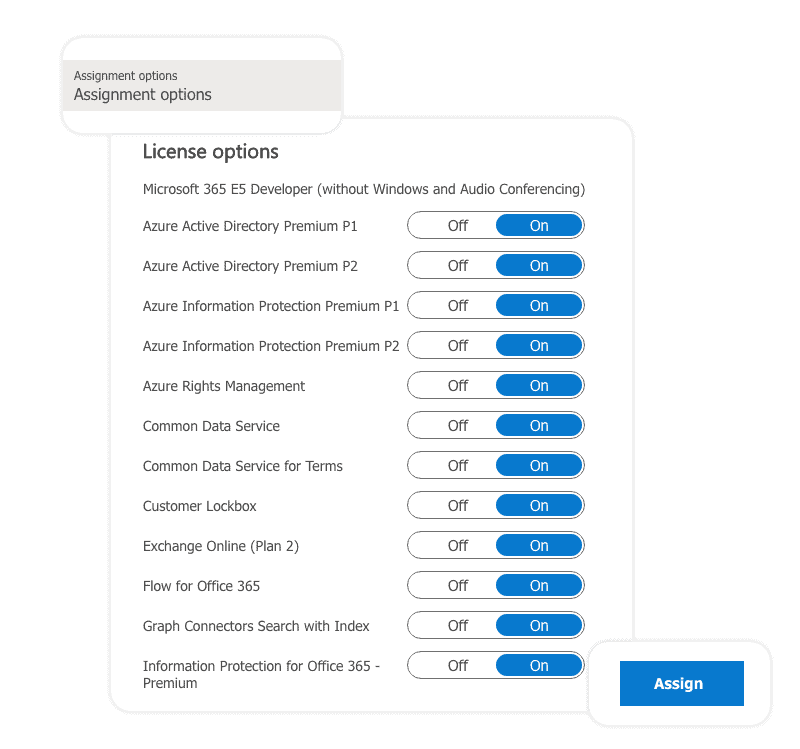 Office 365 License options