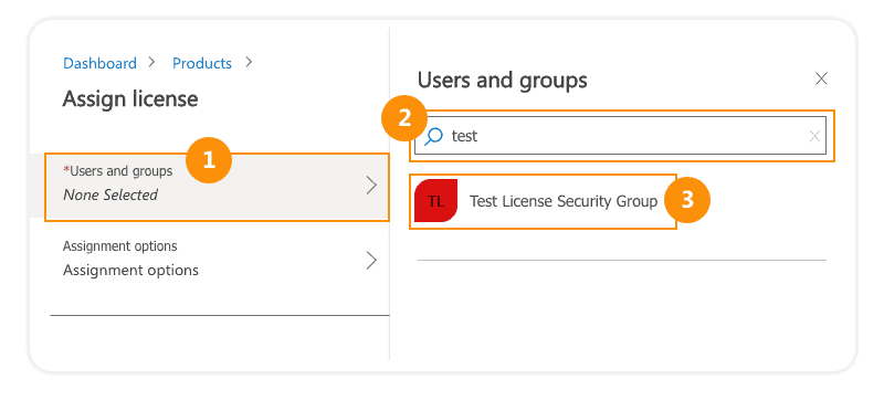 Assign Office 365 license to users and groups